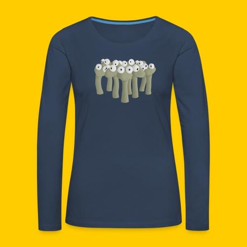 Worm gathering - Långärmad premium-T-shirt dam