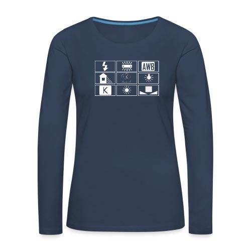 logo wb sombre png - T-shirt manches longues Premium Femme