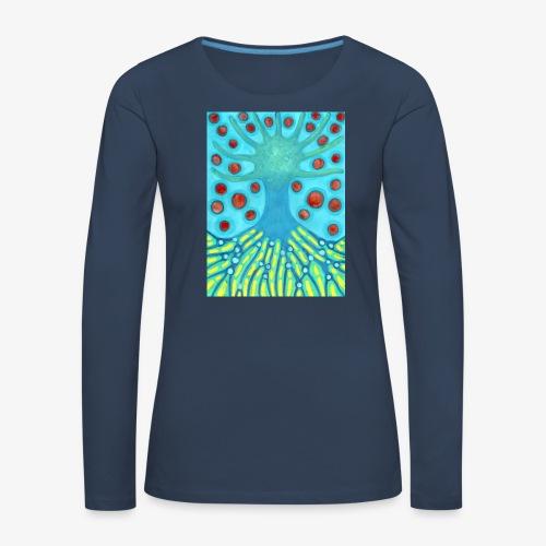 Drzewo I Planety - Koszulka damska Premium z długim rękawem