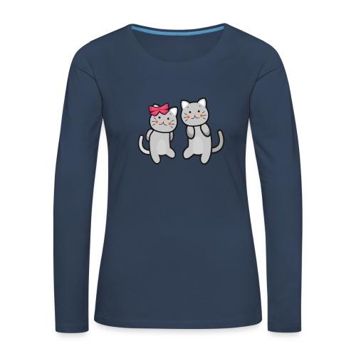 Kotki - Koszulka damska Premium z długim rękawem