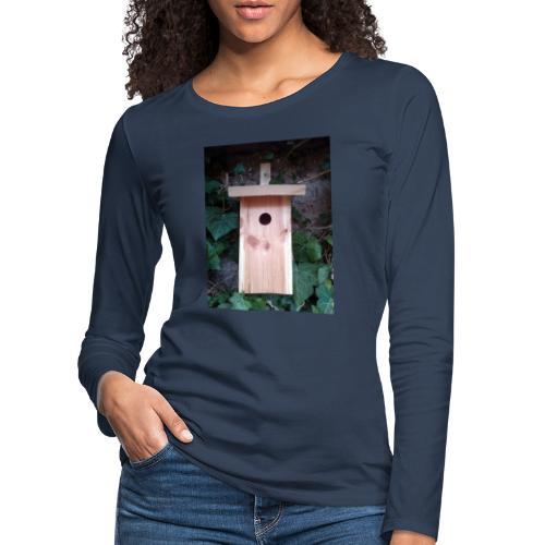 Der Nistkasten - Luxus für den Garten-Vogel - Frauen Premium Langarmshirt