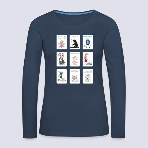 Standard Spielkarten - Frauen Premium Langarmshirt