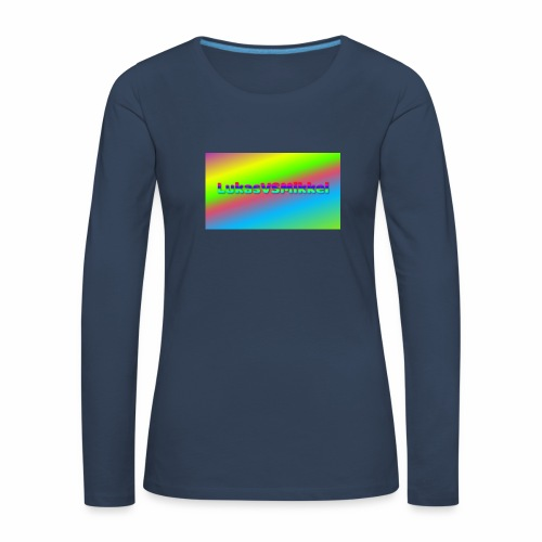 LukasVSMikkel Logo - Dame premium T-shirt med lange ærmer