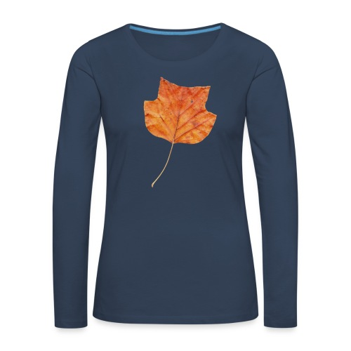 Herbst-Blatt - Frauen Premium Langarmshirt