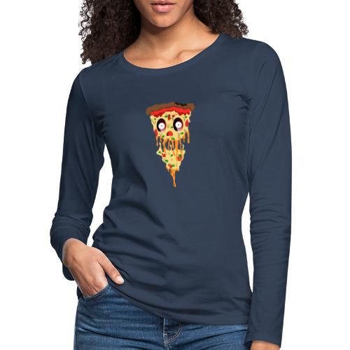 Schockierte Horror Pizza - Frauen Premium Langarmshirt