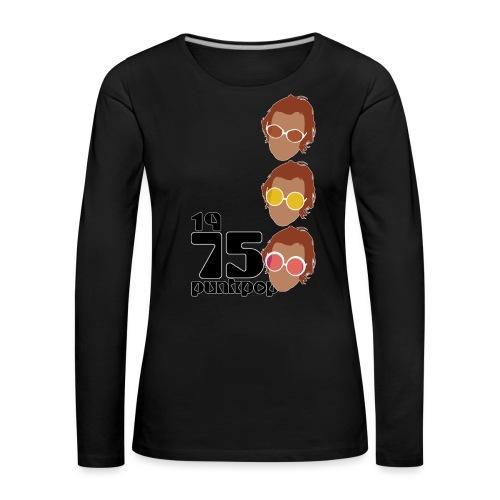 Elton PunkPop 1975 - Maglietta Premium a manica lunga da donna