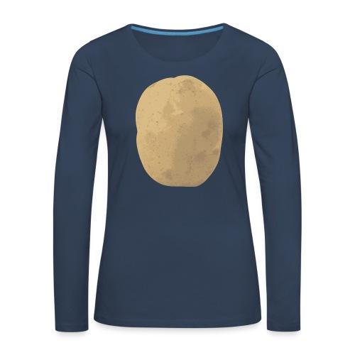 Aardappel - Vrouwen Premium shirt met lange mouwen