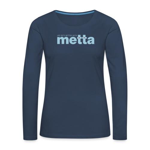 METTA_WHITE - Women's Premium Longsleeve Shirt