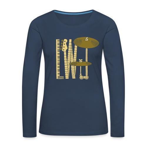 L Wood Joy T Shirt - Dame premium T-shirt med lange ærmer
