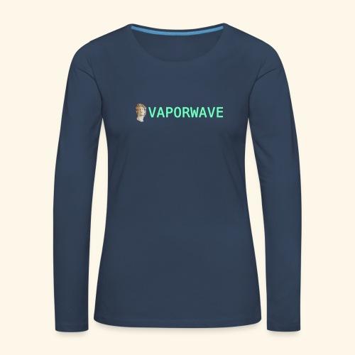 Roman Statue Vaporwave - T-shirt manches longues Premium Femme