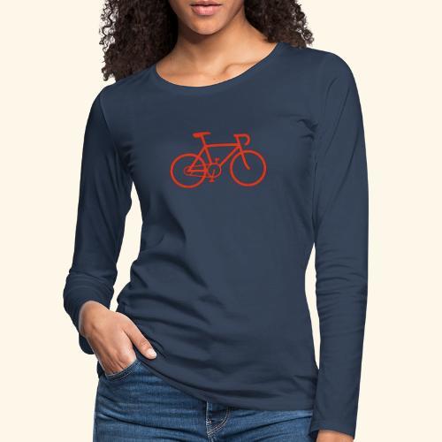 Rennrad, Race-Bike, Fahrrad - Frauen Premium Langarmshirt