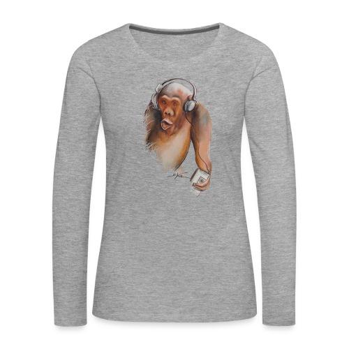 Singe old fashion - T-shirt manches longues Premium Femme
