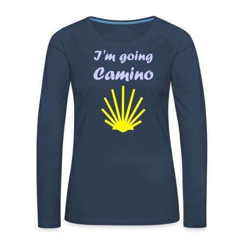 Going Camino - Dame premium T-shirt med lange ærmer