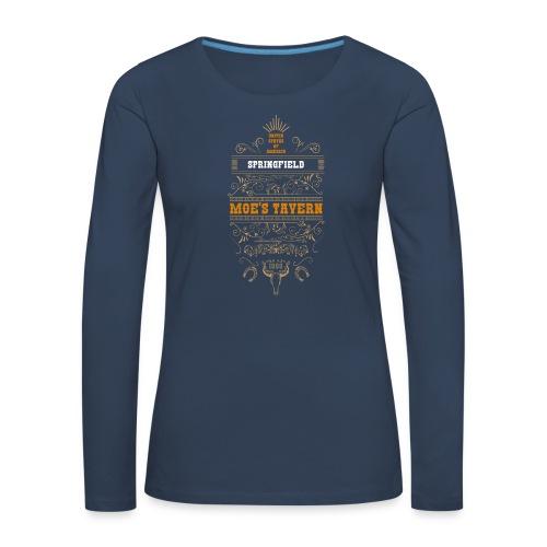 Springfield Moe's Tavern - Koszulka damska Premium z długim rękawem