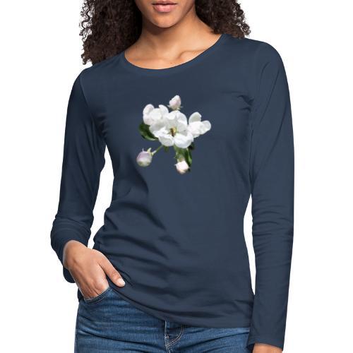 Omenankukka ja kukkakärpänen - Naisten premium pitkähihainen t-paita