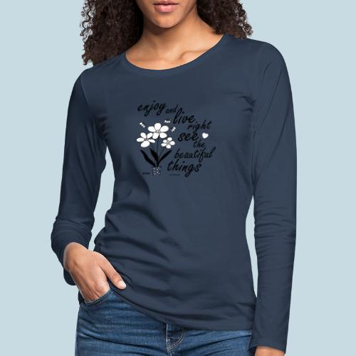 Blumen - Frauen Premium Langarmshirt