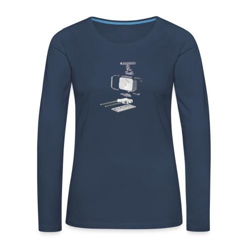 VivoDigitale t-shirt - Blackmagic - Maglietta Premium a manica lunga da donna