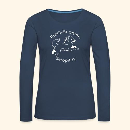 ES seropit logo valk - Naisten premium pitkähihainen t-paita