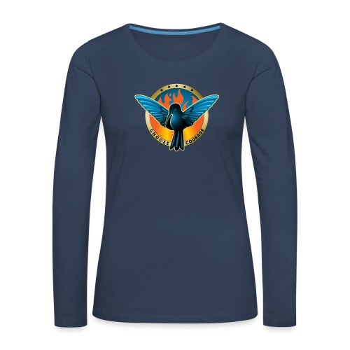 Choose Courage as Fireblue Rebels - Women's Premium Longsleeve Shirt