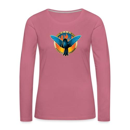 Choose Courage - Fireblue Rebels - Women's Premium Longsleeve Shirt