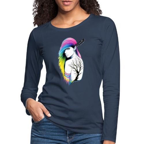 Chica con tattoo - Camiseta de manga larga premium mujer