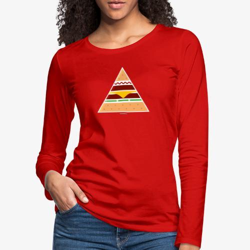 Triangle Burger - Maglietta Premium a manica lunga da donna