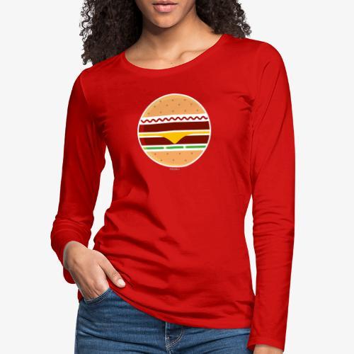 Circle Burger - Maglietta Premium a manica lunga da donna