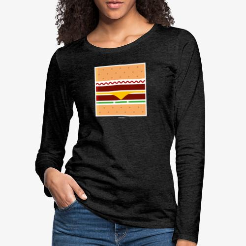 Square Burger - Maglietta Premium a manica lunga da donna
