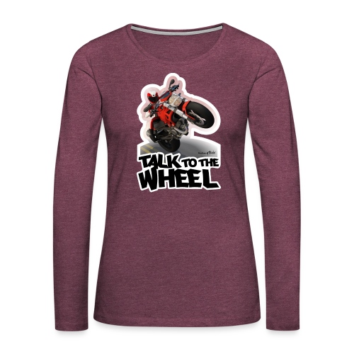 Ducati Monster Wheelie B - Camiseta de manga larga premium mujer