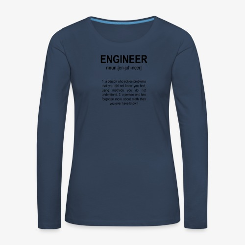 Engineer Def. 2 Black - T-shirt manches longues Premium Femme