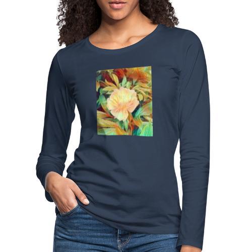 Flower - Frauen Premium Langarmshirt