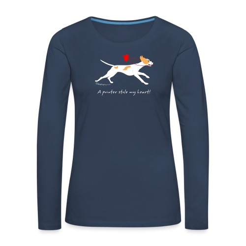 English pointer orange - Women's Premium Longsleeve Shirt