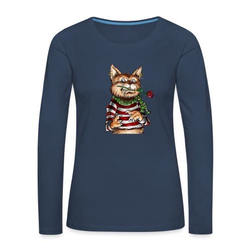 T-shirt - Crazy Cat - T-shirt manches longues Premium Femme