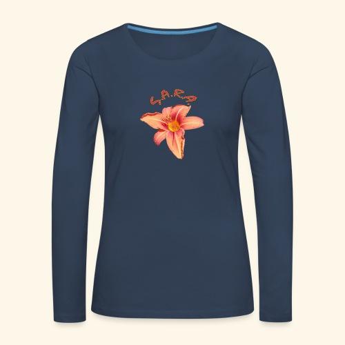 Lilie Blume Garten - Frauen Premium Langarmshirt