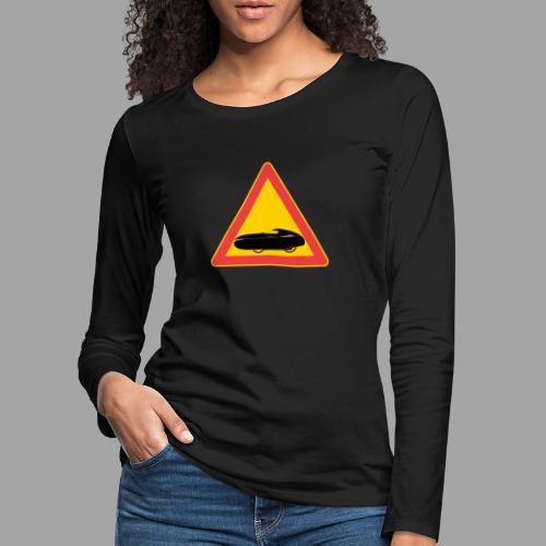 Traffic sign velomobile - Naisten premium pitkähihainen t-paita