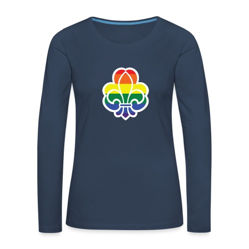 Regnbuespejder jakker og t-shirts mv - Dame premium T-shirt med lange ærmer