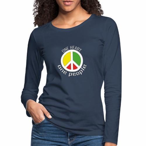 One Heart, One People - Peace - rot, gelb, grün - Frauen Premium Langarmshirt