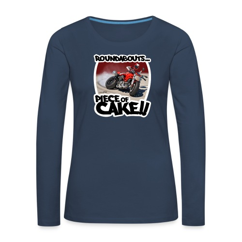 Ducati Monster Skidding - Camiseta de manga larga premium mujer