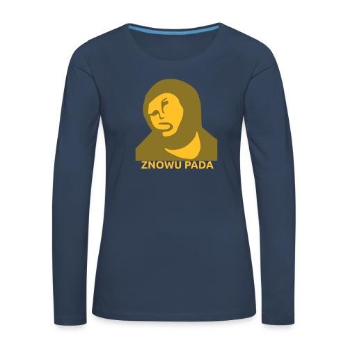 Znowu pada Jeżus z Borja - Koszulka damska Premium z długim rękawem