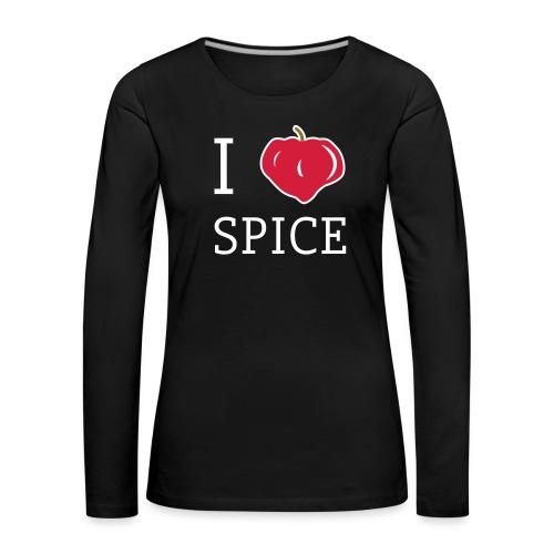 i_love_spice-eps - Naisten premium pitkähihainen t-paita