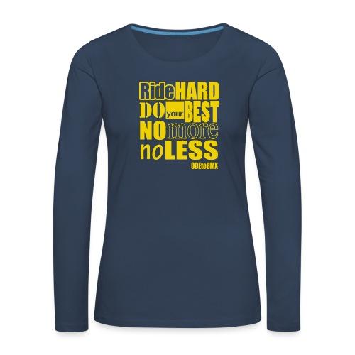 ridehard yellow - Women's Premium Longsleeve Shirt