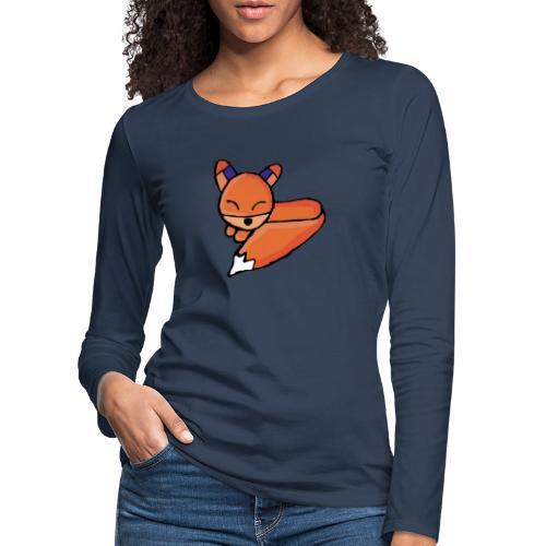 Edo le renard - T-shirt manches longues Premium Femme