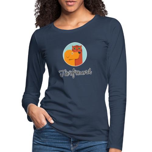 Tierfreund mit Schriftzug - Frauen Premium Langarmshirt