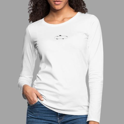 Keep calm and ride your velomobile white - Naisten premium pitkähihainen t-paita