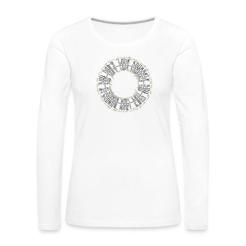 CALLIGRAPHY-CIRCLE - Maglietta Premium a manica lunga da donna