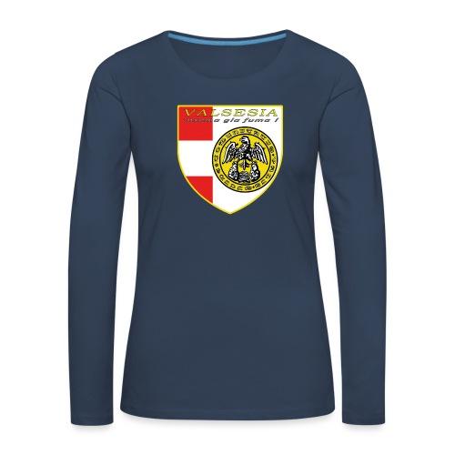 scudo simbolo comunità Valsesiana - Maglietta Premium a manica lunga da donna