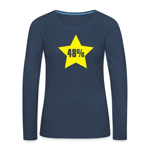 48% in Star - Women's Premium Longsleeve Shirt