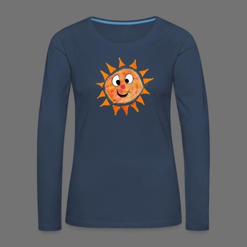 Aurinko - Naisten premium pitkähihainen t-paita