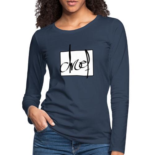 Droef.Gent logo zwart - Vrouwen Premium shirt met lange mouwen