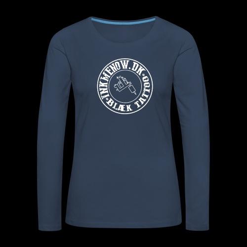 logo hvid png - Dame premium T-shirt med lange ærmer